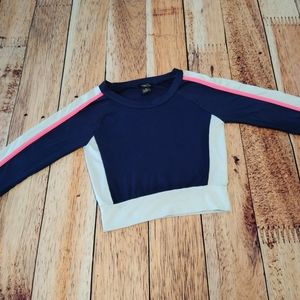 Rue21 Athletic Style Striping Navy & White Top